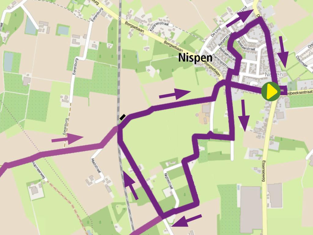 3. Paarse Route: Nispense paden met Wouwse streken