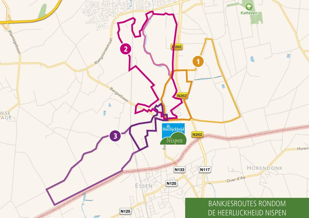 dHN Bankjesroutes rondom Nispen